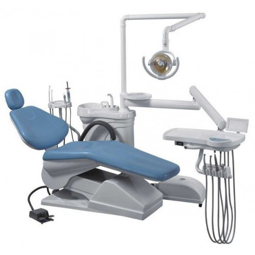 Aprobado Nuevo Sillón Dental Unidad de Equipo informático cuero duro Controlada FDA CE