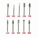 10PCS Tungsten Carbide Burs
