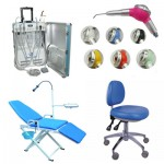 Unidad Portátil GU-P206 + Dental Air Polisher + Adjustable Operatory Chair +  Portable Folding Chair
