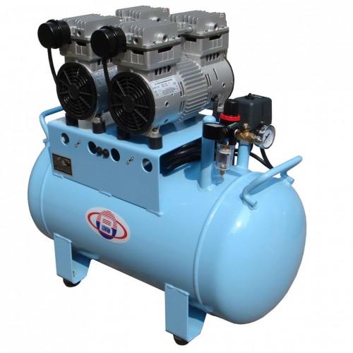 60L Compresor de Aire Dentales Silencioso Oilless 300 L / min 1-Conducir-4 fiable BD-202
