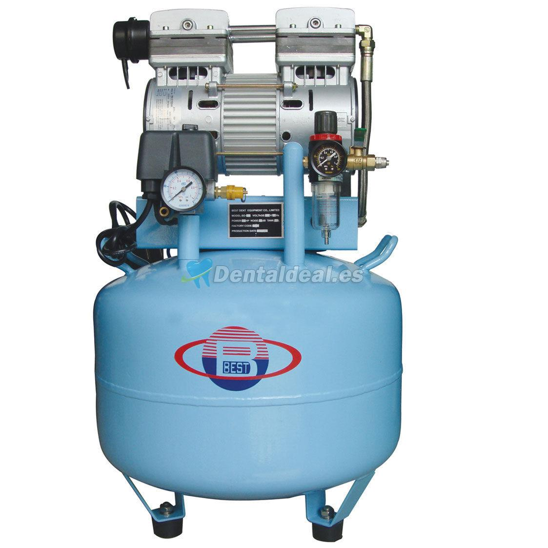 40l compresor de aire clinica dentales silencioso oilless for Compresor de aire silencioso