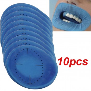 10Pcs Retractor de Mejillas Abridor Azul Presa de Goma Estéril Desechable Dental