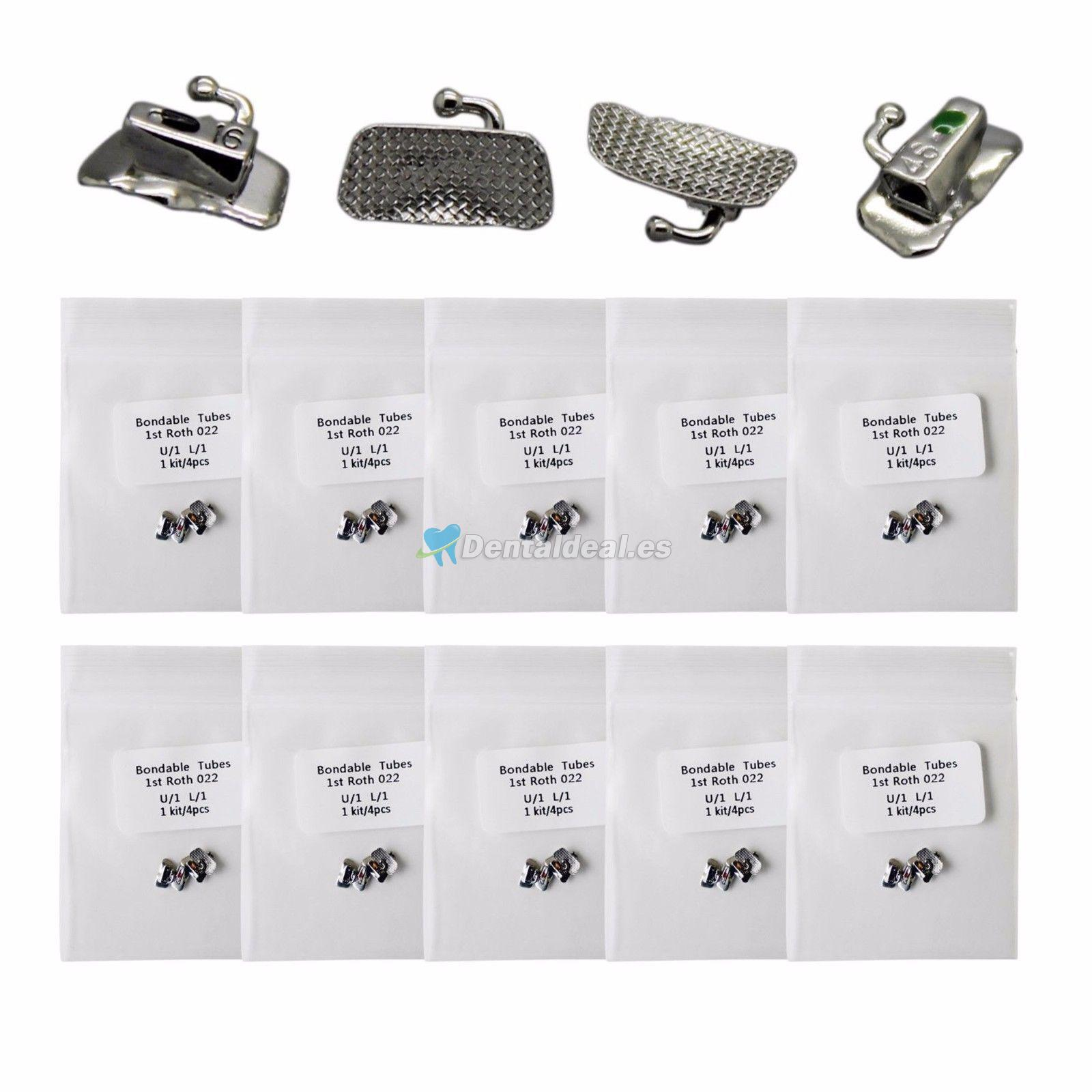 5 kits Tubos bucales de ortodoncia dentales 1st 2nd Molar Bondable MBT Roth Slot 022