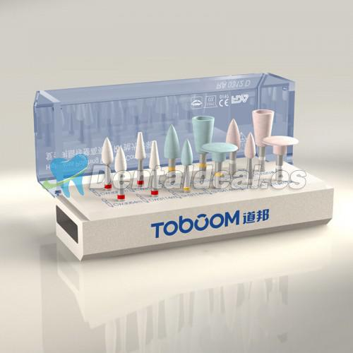 Toboom 12 PCS Compuesto Kit de Pulido Dental RA0312D