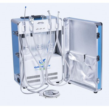 Greeloy®  GU-P204 Dental Portable Turbina Unidad Con Compresor de aire Succión