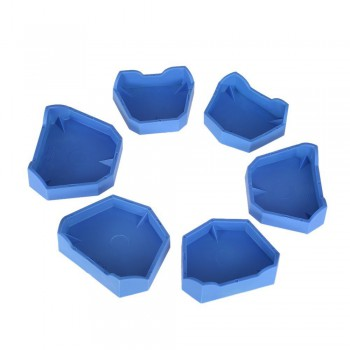 6Pcs Bandeja de impresión dental base de modelo para laboratorio dental