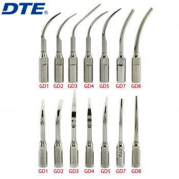 10Pcs Woodpecker DTE Puntas de escalador ultrasónico de escalado supragingival dental Fit NSK SATELEC