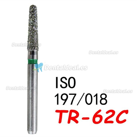 100PCS Diam Diamond Burs 1.6mm FG TR-62C