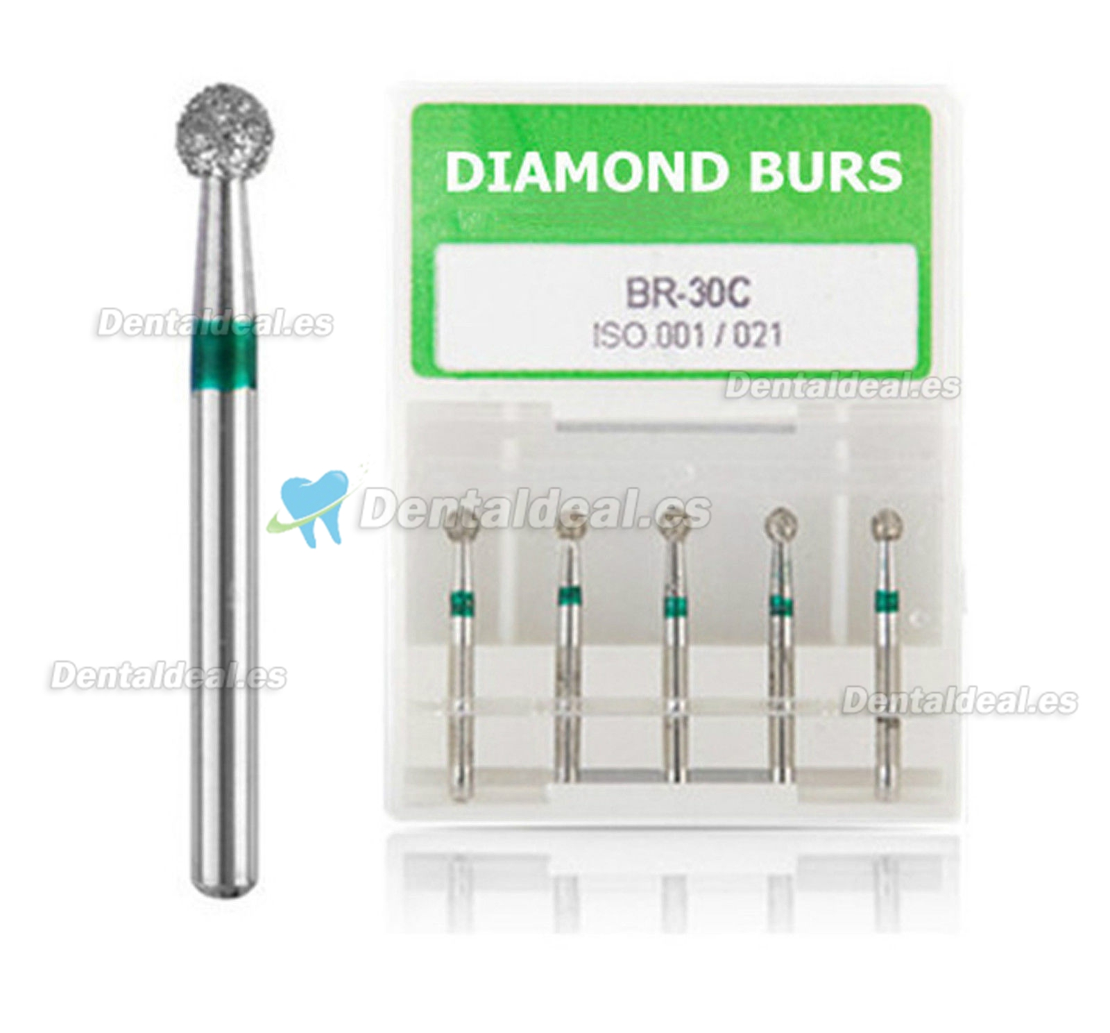 100PCS Diam Diamond Burs 1.6mm FG BR-31C