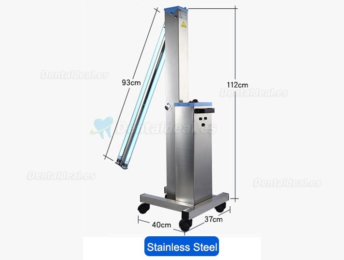 FY® 30DS Mobile Portable Medical UV+Ozone Disinfection Car Ultraviolet Lamp Stainless Steel Trolley