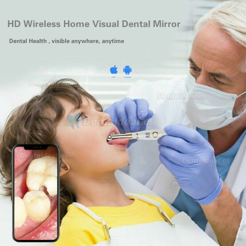 WIFI Cámara Intraoral Dental HD 720P IP67 Espejo dental Impermeable del Endoscopio Dental para IOS Android