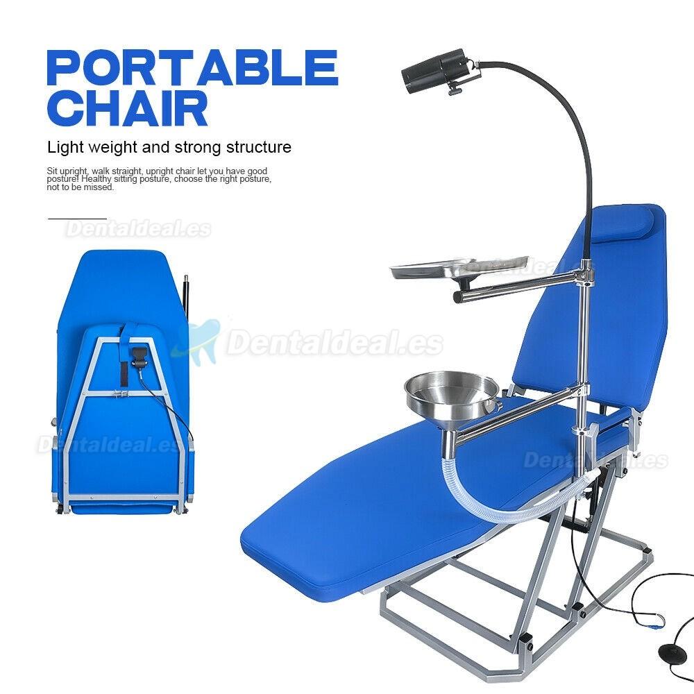 Greeloy sillón dental portátil con luz fría LED y bandeja para instrumentos GU-P109